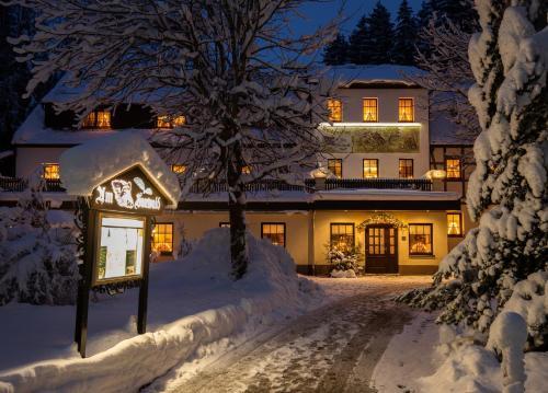 Waldgasthof & Hotel Am Sauwald during the winter
