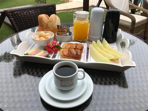 Opciones de desayuno disponibles en Pousada Lozalti