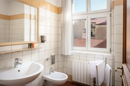 A bathroom at Hotel Caesar Prague