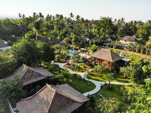 A bird's-eye view of Kubu Kangin Resort