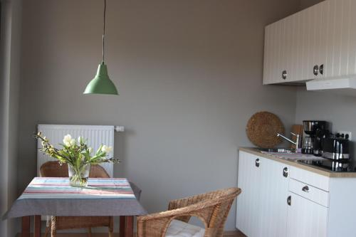 Küche/Küchenzeile in der Unterkunft Hof Uhleck am Königsstuhl