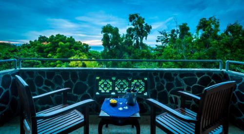 A balcony or terrace at Melasti Kuta Bungalows & Spa