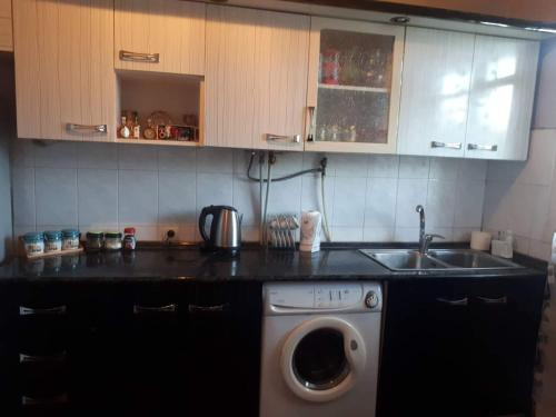 A kitchen or kitchenette at Vernatun Guesthouse