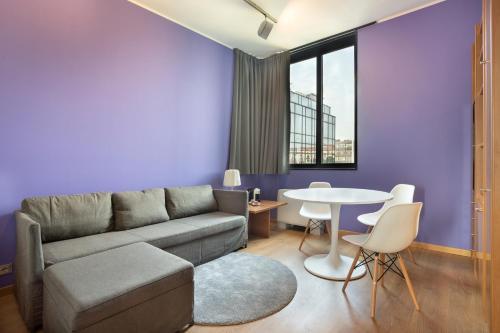 Area soggiorno di Nizza26 Serviced Apartments