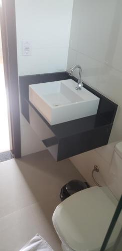 A bathroom at Hostelplan