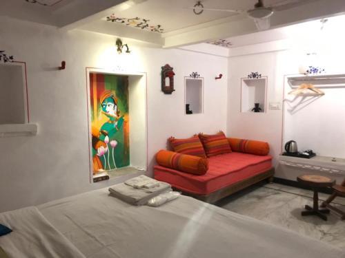 Zona d'estar a Hari Niwas Guest House