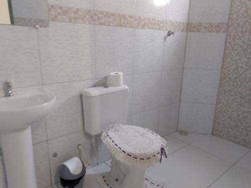 A bathroom at Casa de Praia