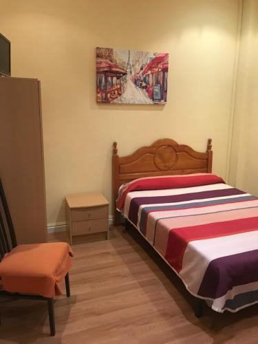 A bed or beds in a room at Hostel Entresueños Logroño