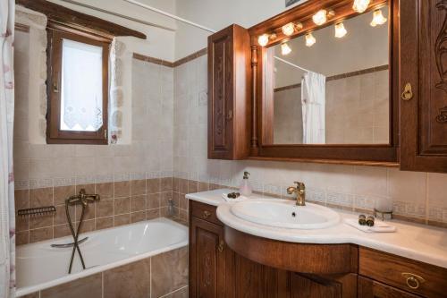 A bathroom at Xatheri Villas