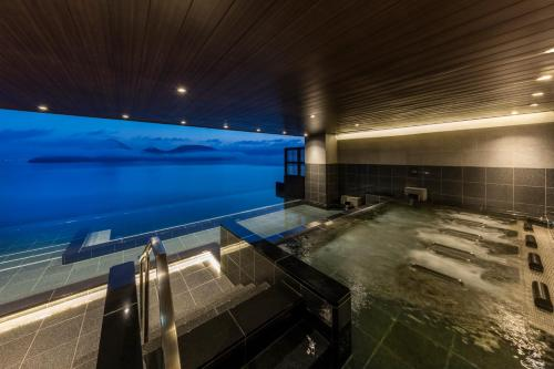 The swimming pool at or near The Lake Suite Ko no Sumika (Toya Sun Palace Resort & Spa Annex)