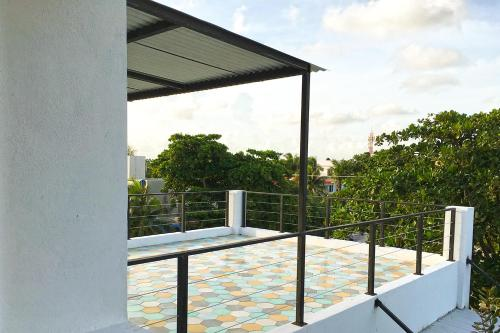 A balcony or terrace at Casa Palma, Puerto Morelos