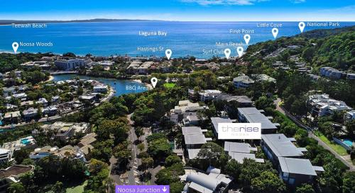 A bird's-eye view of The Rise Noosa