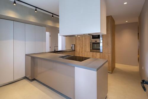 A kitchen or kitchenette at Hippocrates - Faliro deluxe apartment