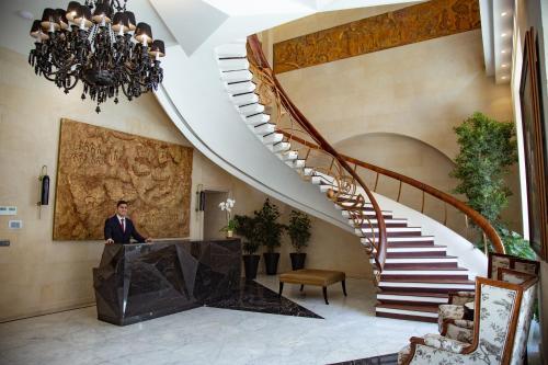 O saguão ou recepção de Boutique 19 Hotel