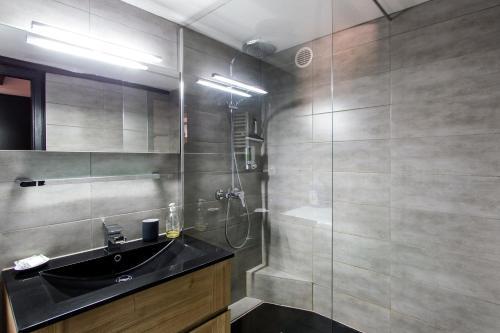 Salle de bains dans l'établissement La Maison du Batelier