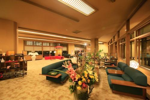 The lobby or reception area at Yutorelo Toyako