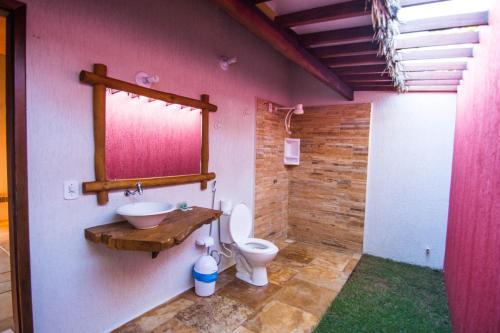 Um banheiro em Pousada Vento do Kite