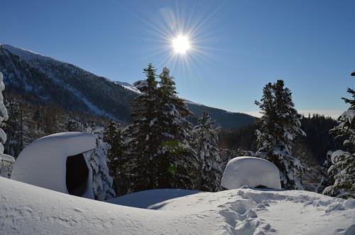 Brandnerhütte im Winter