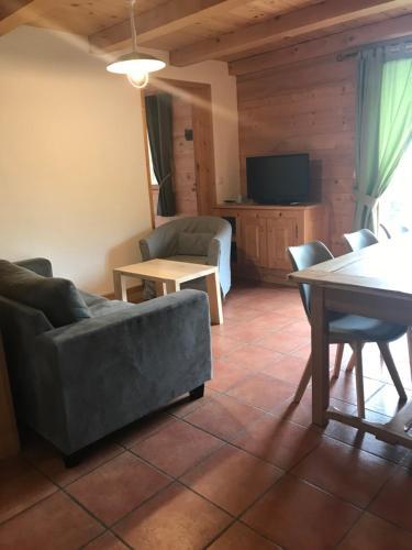 A seating area at La Ferme des Georgières