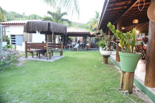 A garden outside Pousada O Rancho Alegre