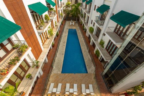 A view of the pool at Apartamento Virrey or nearby