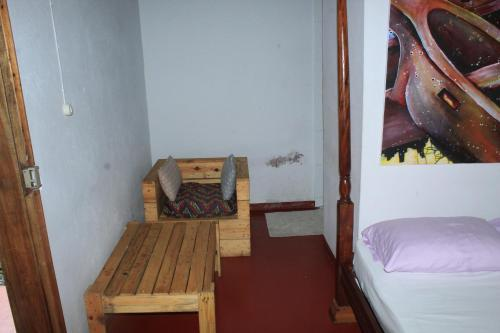 Ein Sitzbereich in der Unterkunft Mionga