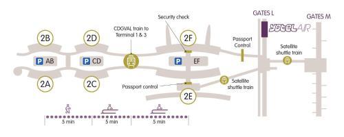 The floor plan of YOTELAIR Paris CDG - Transit Hotel - Terminal 2E