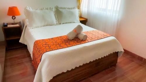 Un ou plusieurs lits dans un hébergement de l'établissement Hospederia Villa de los Sáenz