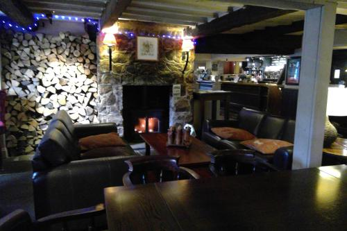 The lounge or bar area at The White Swan