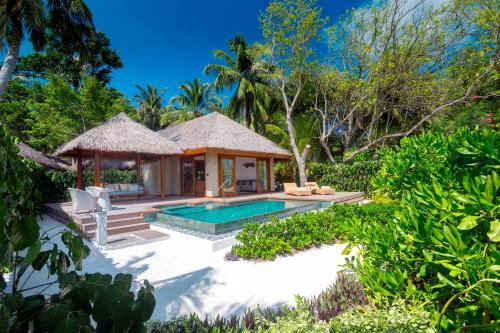 The swimming pool at or near Baros Maldives