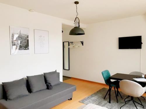A seating area at City Apartment Bielefeld