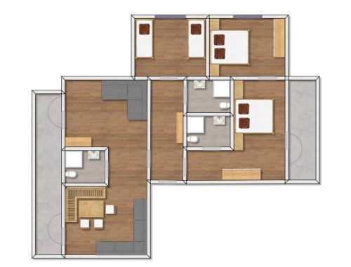 Plan piętra w obiekcie Apartments Pitztaler Nachtigall