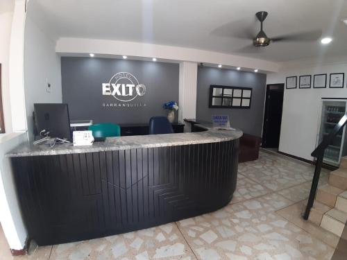 The lobby or reception area at Hotel Exito Barranquilla