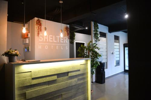 The lobby or reception area at Shelter-Hotels VDNKH