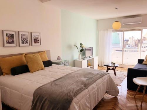 A bed or beds in a room at Mi Silencio