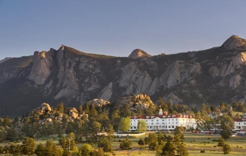 A bird's-eye view of The Stanley Hotel