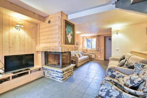A television and/or entertainment center at Chalet Austin
