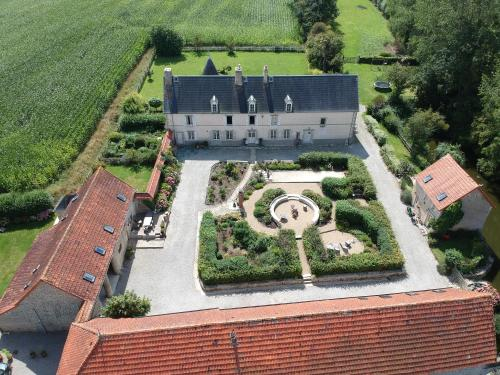 A bird's-eye view of Chateau Le Colombier