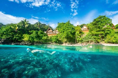 The swimming pool at or near Royal Davui Island Resort, Fiji