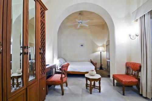 A seating area at Chomu Palace