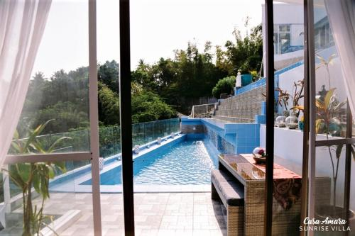 A view of the pool at Casa Amara or nearby