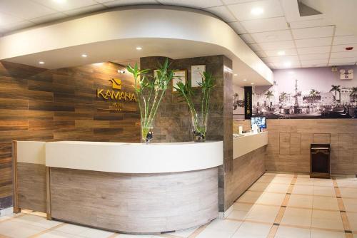 The lobby or reception area at Kamana Hotel