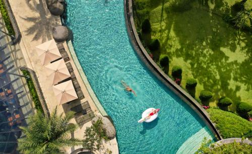 A view of the pool at Padma Resort Ubud or nearby