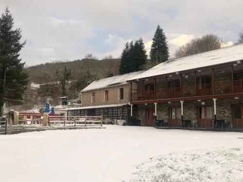 The Falcon Inn Retreat during the winter