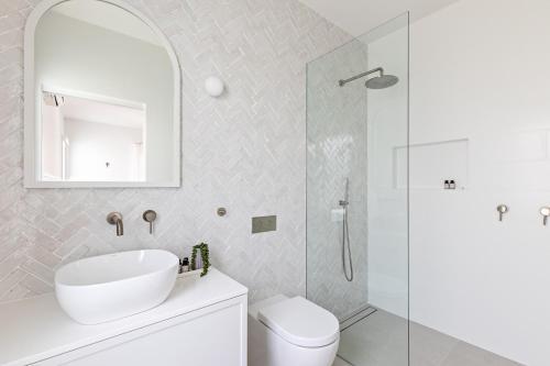 A bathroom at Cape Beach House