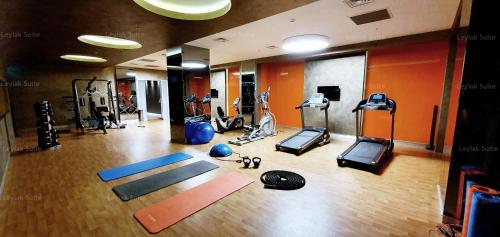 The fitness centre and/or fitness facilities at Taksim leylak suite