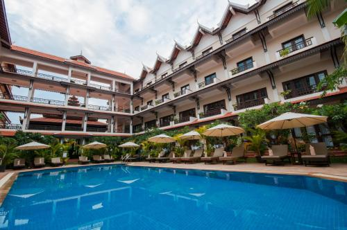 The swimming pool at or near Saem Siemreap Hotel