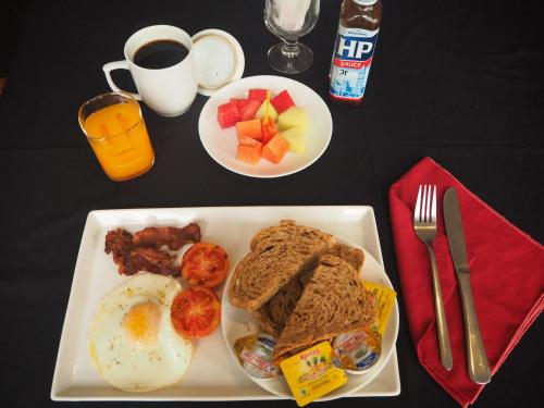 Breakfast options available to guests at The Gecho Inn Country