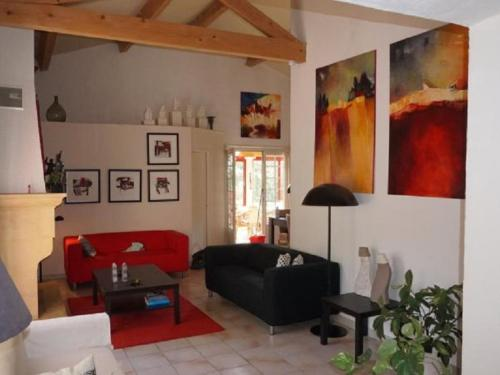A seating area at Comfortable Holiday Home with Private Pool in Pierrerue
