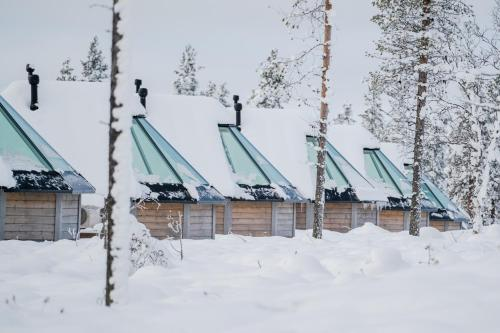 Northern Lights Village during the winter